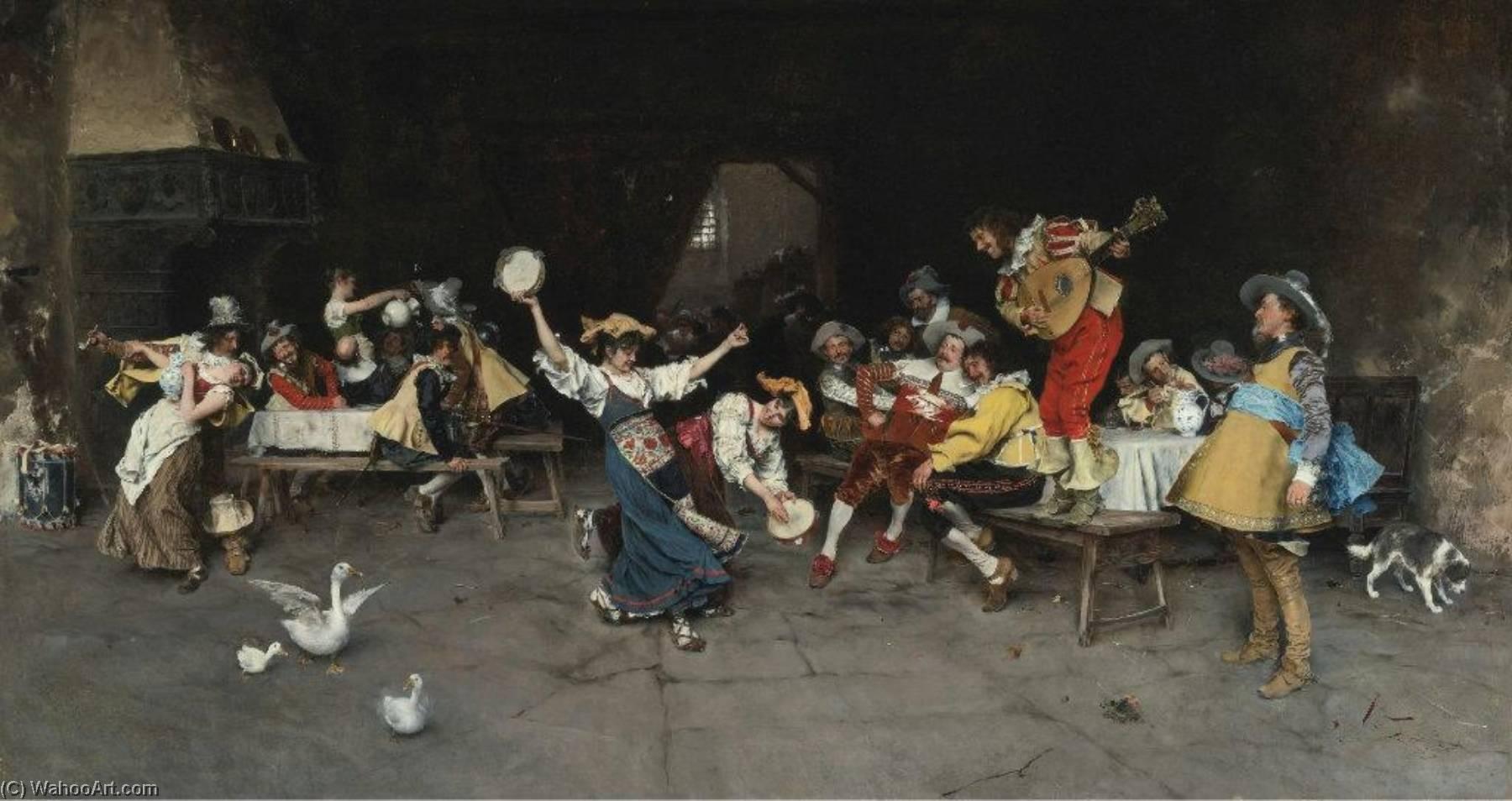Wikioo.org - The Encyclopedia of Fine Arts - Painting, Artwork by Francesco Vinea - Italian Dance Party