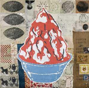 Red Sundae (The Blue Bowl)
