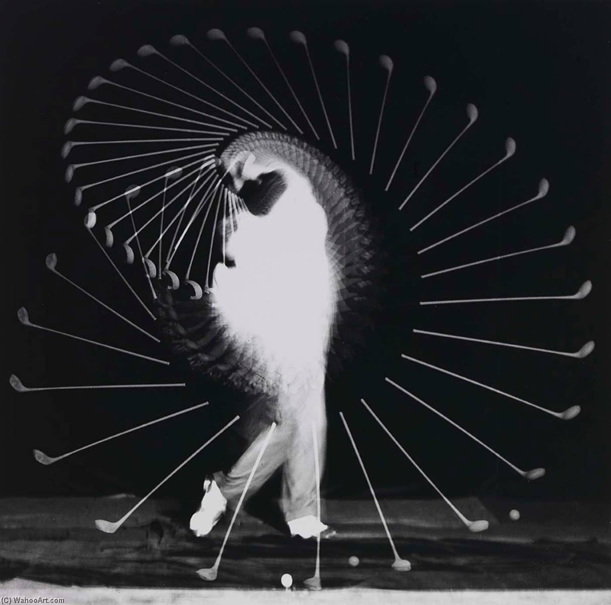 Wikioo.org - The Encyclopedia of Fine Arts - Painting, Artwork by Harold E Edgerton - Densmore Shute Bends the Shaft
