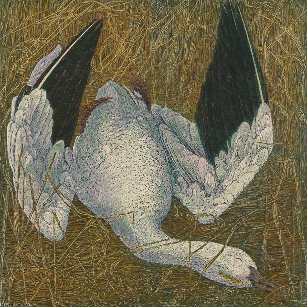 Wikioo.org - The Encyclopedia of Fine Arts - Painting, Artwork by Janet E Turner - Dead Snow Goose III