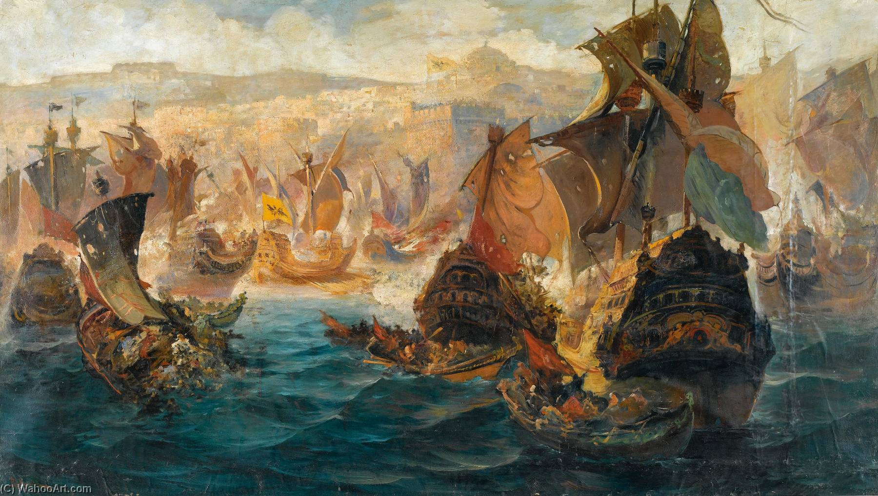 Wikioo.org - The Encyclopedia of Fine Arts - Painting, Artwork by Vasilios Chatzis - The Crusader invasion of Constantinople