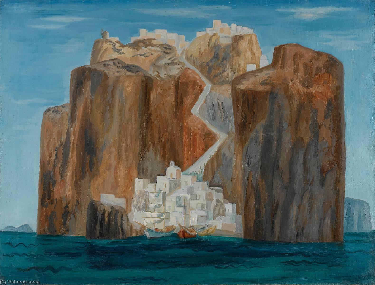Wikioo.org - The Encyclopedia of Fine Arts - Painting, Artwork by Gerasimos Steris - Santorini