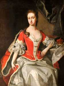 Mary Preston (d.1724), Marchioness Duchess of Powis, in Peeress's Robes