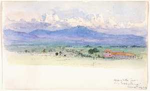 Alban Mountains from Via Tuscolana, Rome
