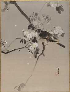 桜に小禽図 Birds on a Flowering Branch