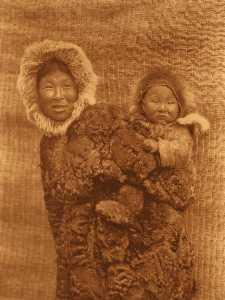 English Woman and child Nunivak