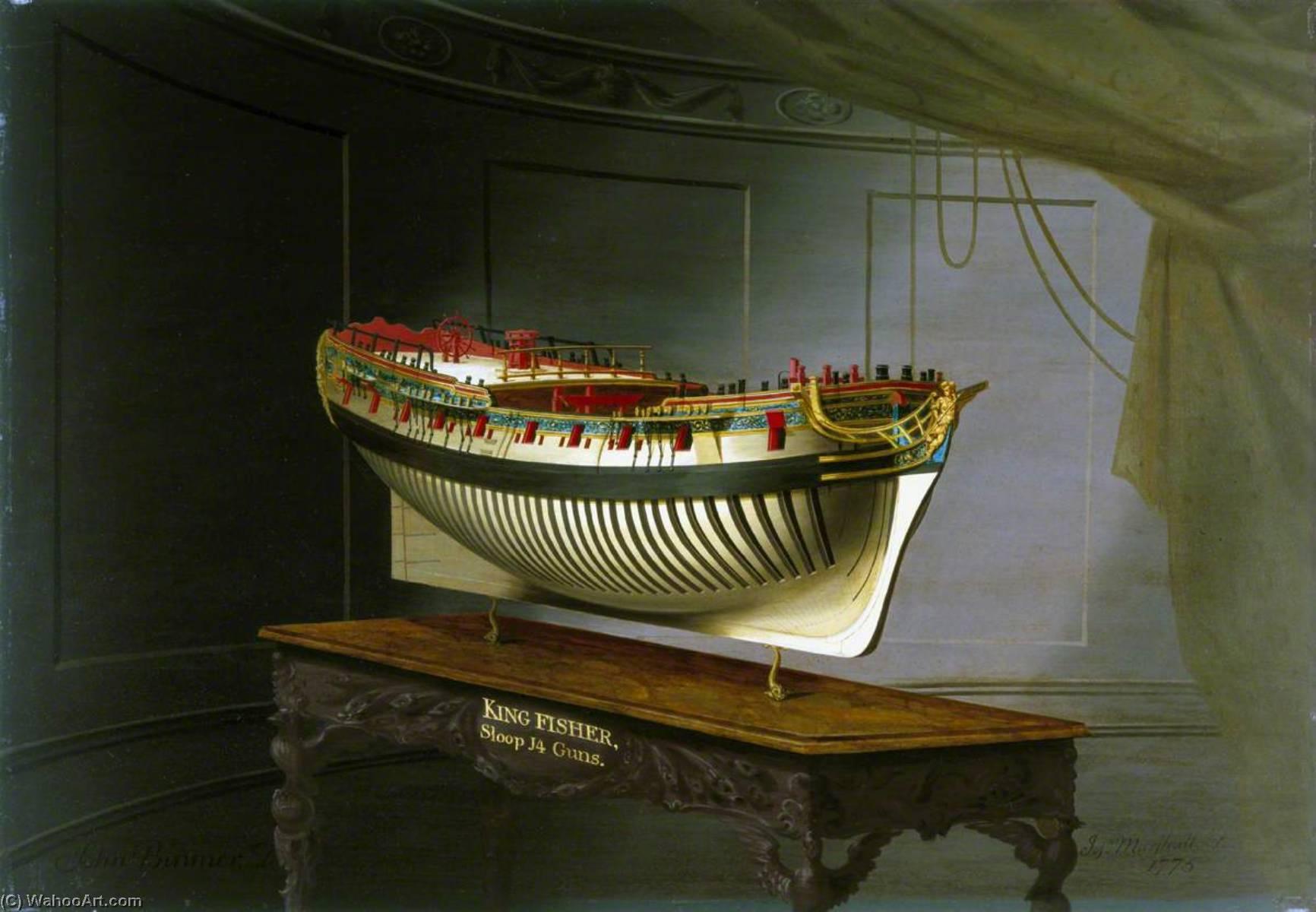 Wikioo.org - The Encyclopedia of Fine Arts - Painting, Artwork by Joseph Marshall - HMS 'Kingfisher'