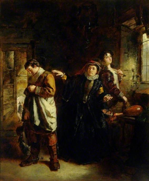 Wikioo.org - The Encyclopedia of Fine Arts - Painting, Artwork by Daniel Pasmore I - Interior with Figures