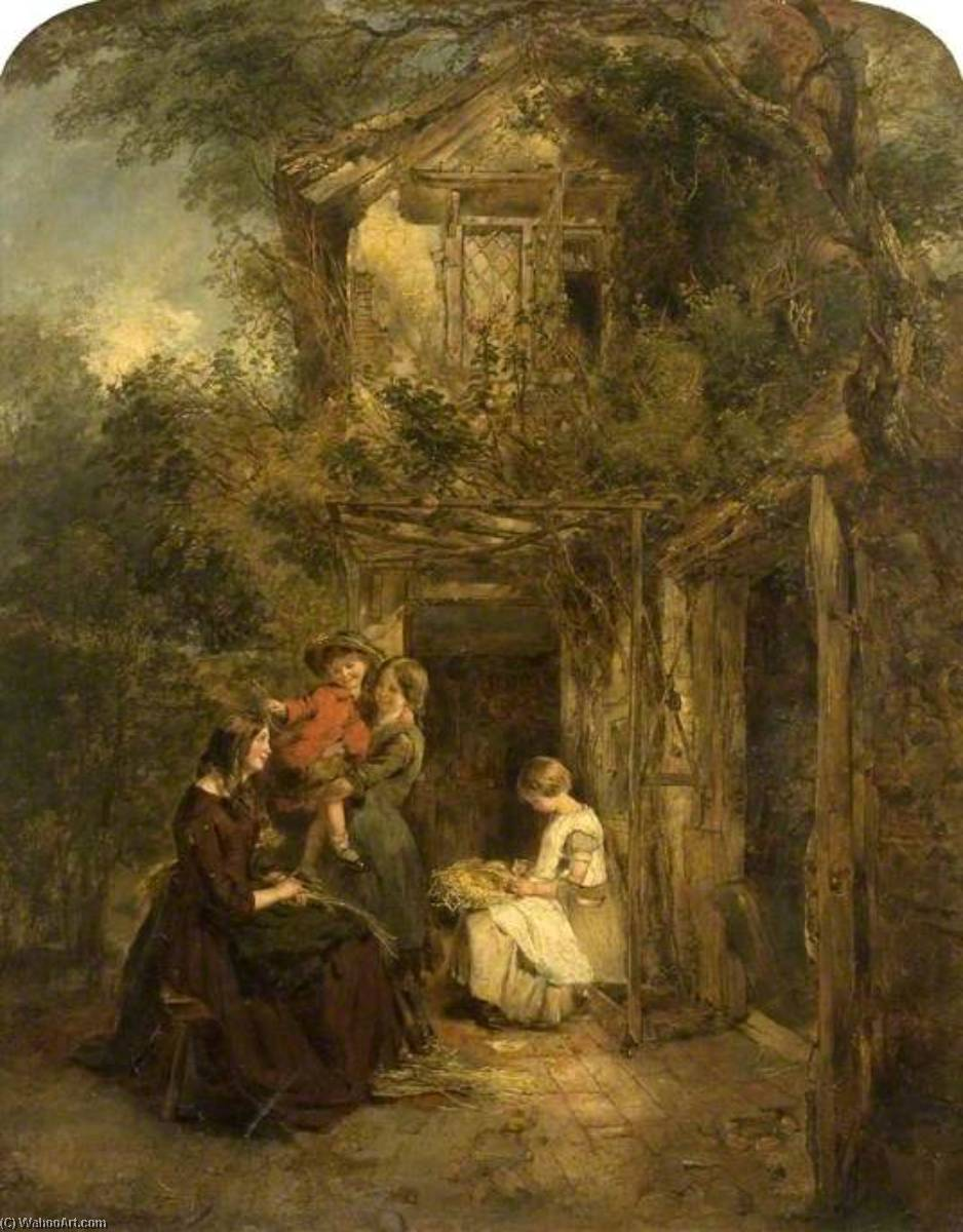 Wikioo.org - The Encyclopedia of Fine Arts - Painting, Artwork by Daniel Pasmore I - Plaiting Straw near St Albans