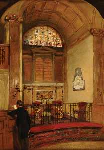 Interior of St Martin Outwich, London