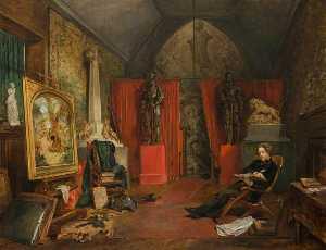 Sir Joseph Noel Paton (1821–1901), Artist (Shown in his Studio)