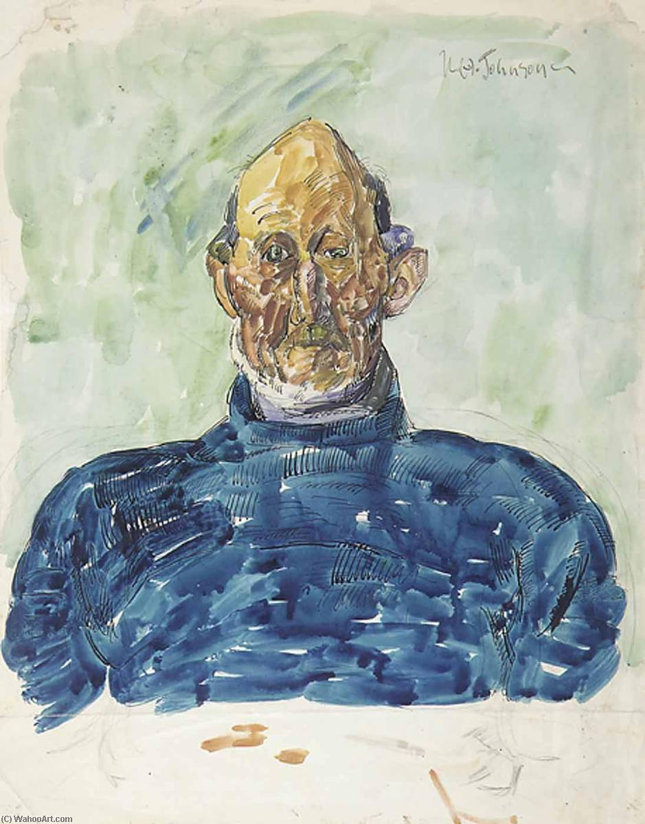 Wikioo.org - The Encyclopedia of Fine Arts - Painting, Artwork by William Henry Johnson - Portrait of Jesper Anderson