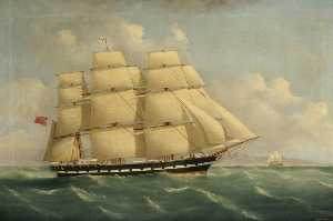 A Blackwall Frigate off the Cape