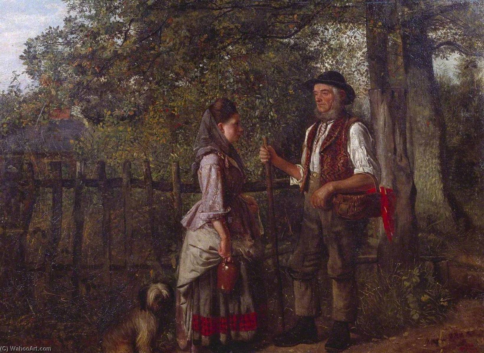 Wikioo.org - The Encyclopedia of Fine Arts - Painting, Artwork by William Edward Millner - A Wayside Gossip