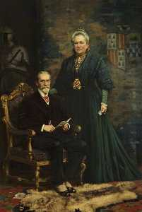 Sir Merton Russell Cotes (1835–1921), and Lady Annie Russell Cotes (1835–1920)