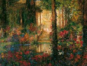 The Garden of Enchantment from 'Parsifal' (the opera by Richard Wagner)