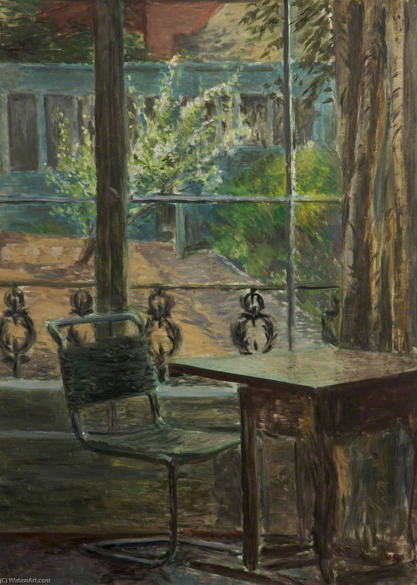 Wikioo.org - The Encyclopedia of Fine Arts - Painting, Artwork by Lynton Harold Lamb - The View from the Window, Back Garden, Adelaide Road, London