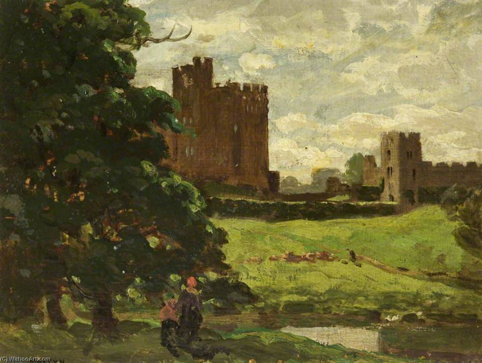 Wikioo.org - The Encyclopedia of Fine Arts - Painting, Artwork by Thomas Edwin Mostyn - Alnwick Castle