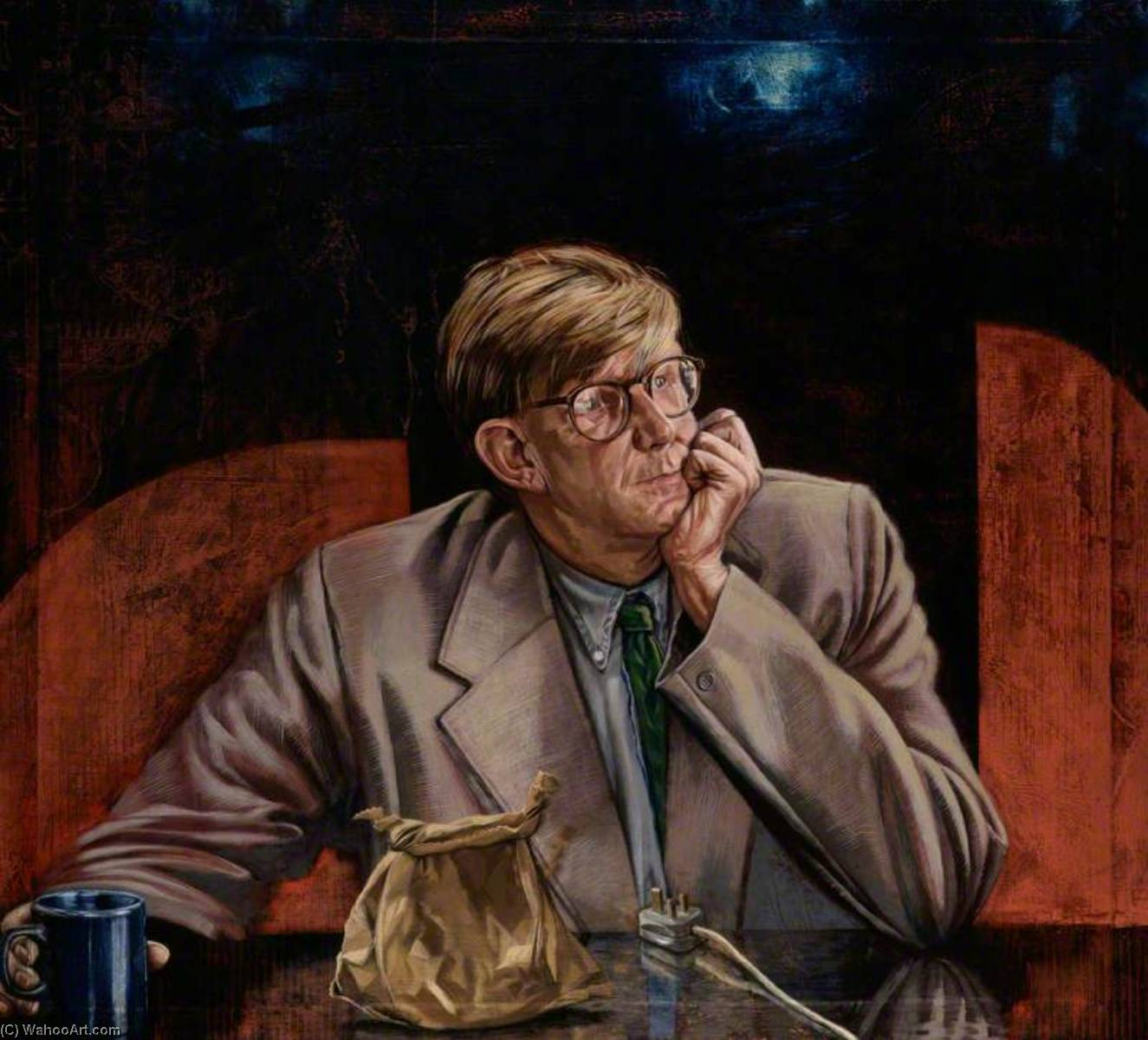 Wikioo.org - The Encyclopedia of Fine Arts - Painting, Artwork by Tom Wood - Alan Bennett