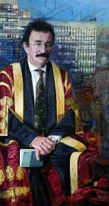 Lord Robert Winston (b.1940), Chancellor of Sheffield Hallam University from 2001 (triptych, centre panel)