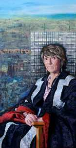 Professor Diana Green, CBE, Vice Chancellor of Sheffield Hallam University (1998–2007) (triptych, right wing)