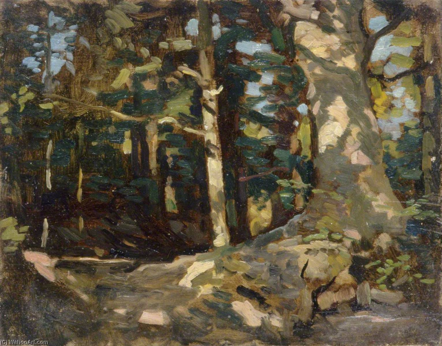 Wikioo.org - The Encyclopedia of Fine Arts - Painting, Artwork by Gunning King - Forest Scene