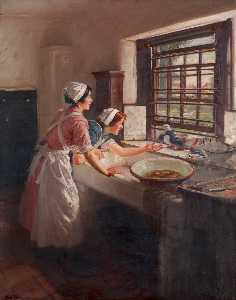 Maids with Pigeons