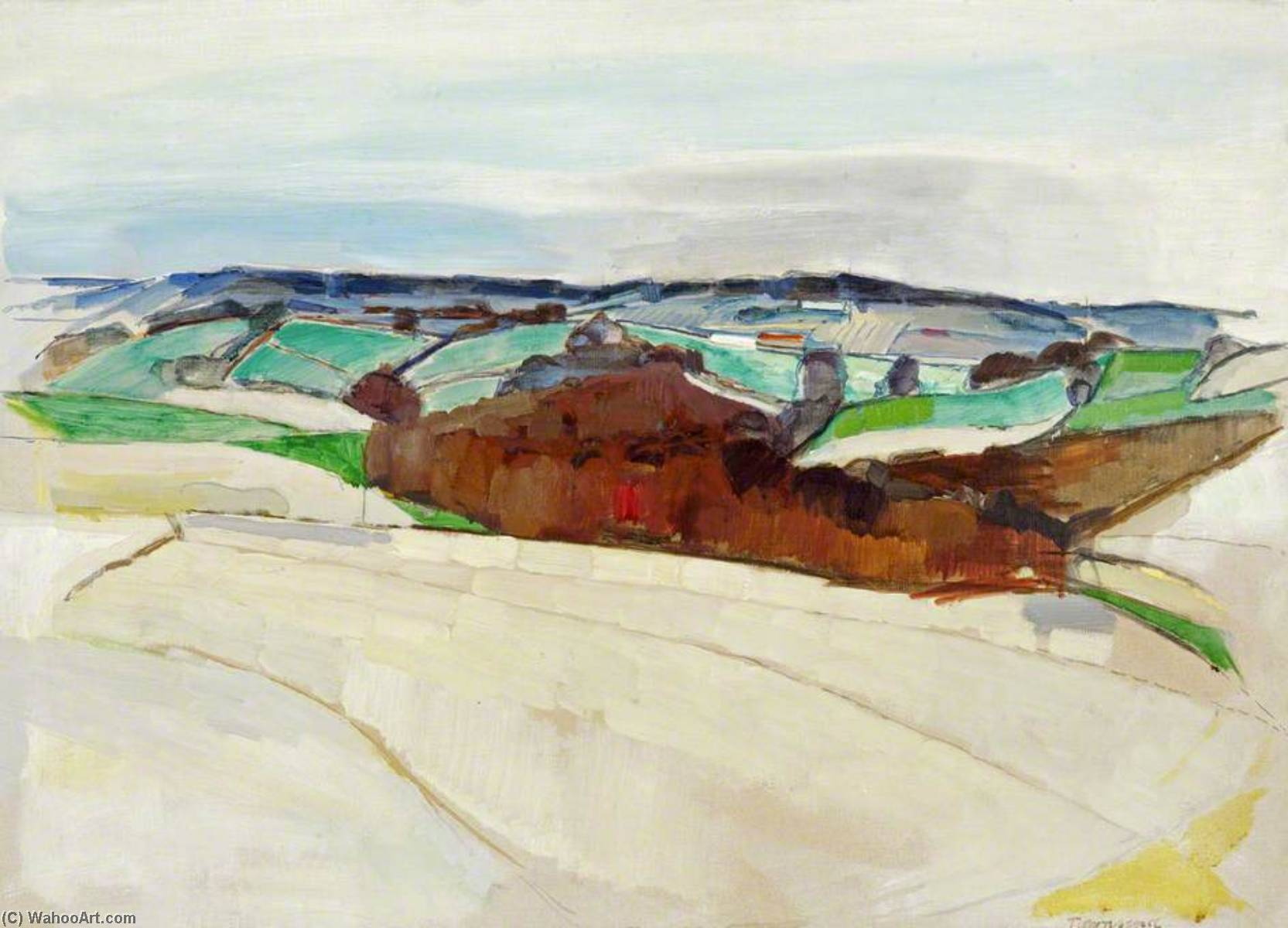 Wikioo.org - The Encyclopedia of Fine Arts - Painting, Artwork by William Townsend - A Slope of the Weald