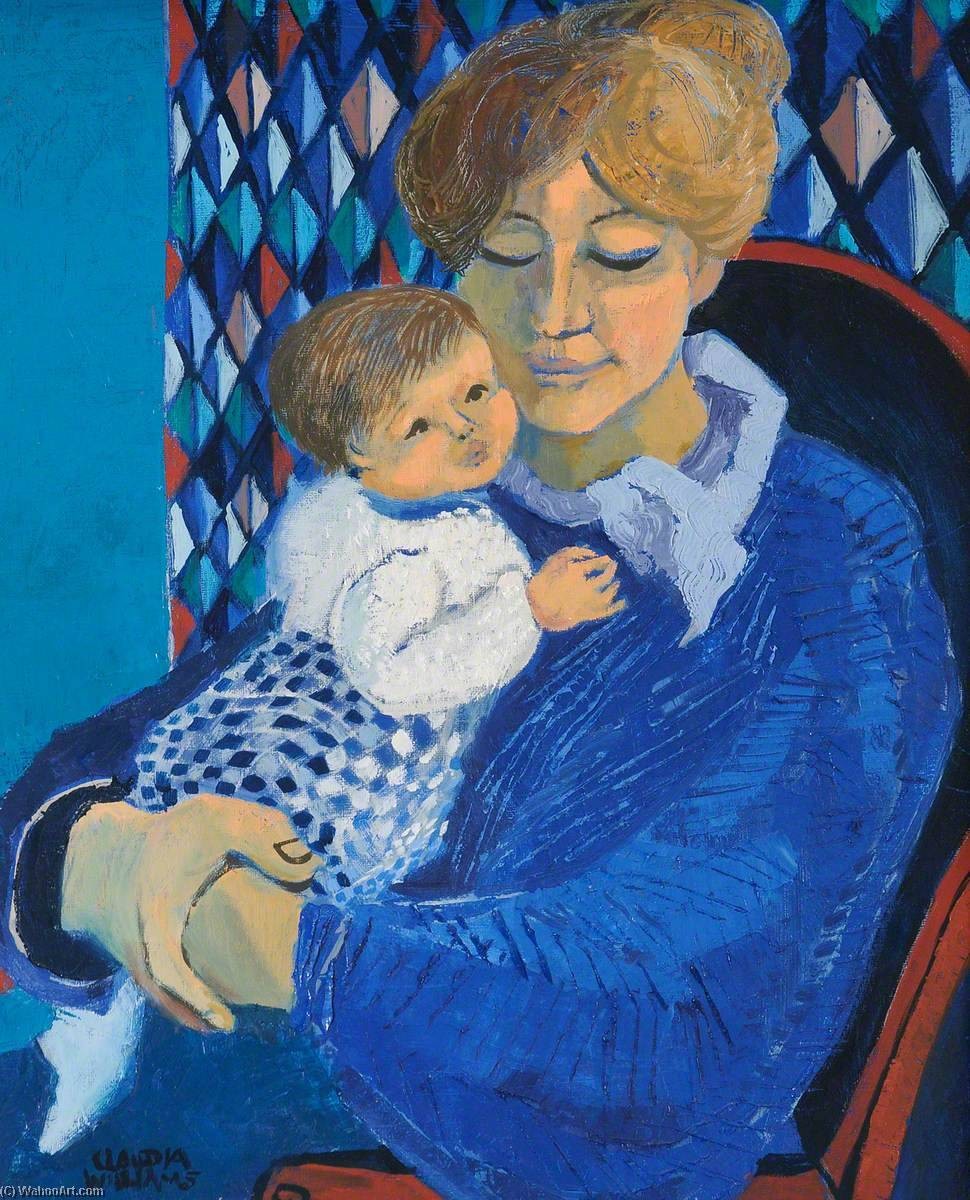 Wikioo.org - The Encyclopedia of Fine Arts - Painting, Artwork by Claudia Williams - Mother in Blue