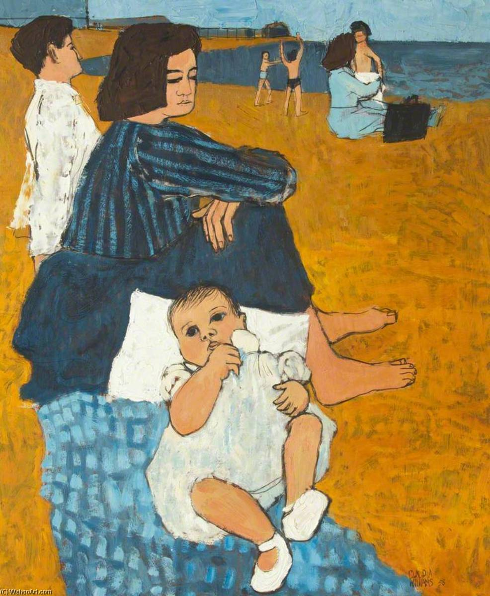 Wikioo.org - The Encyclopedia of Fine Arts - Painting, Artwork by Claudia Williams - Family by the Sea