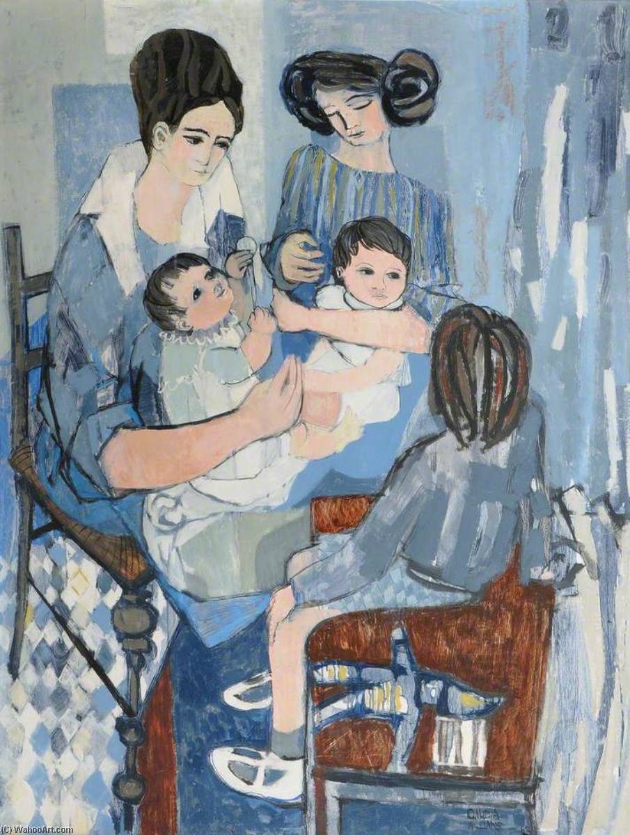 Wikioo.org - The Encyclopedia of Fine Arts - Painting, Artwork by Claudia Williams - Mother and Babies