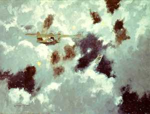 A Catalina Flying Boat Sighting the 'Bismarck', 20 May 1941