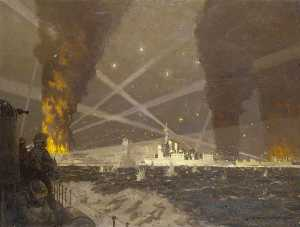 HMS 'Campbeltown' at St Nazaire, 27 March 1942
