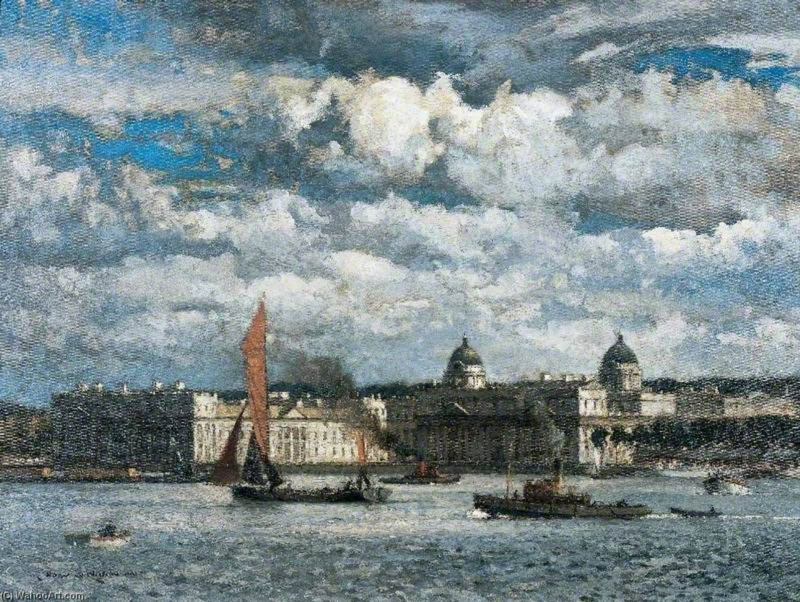 Wikioo.org - The Encyclopedia of Fine Arts - Painting, Artwork by Norman Wilkinson - Greenwich, London