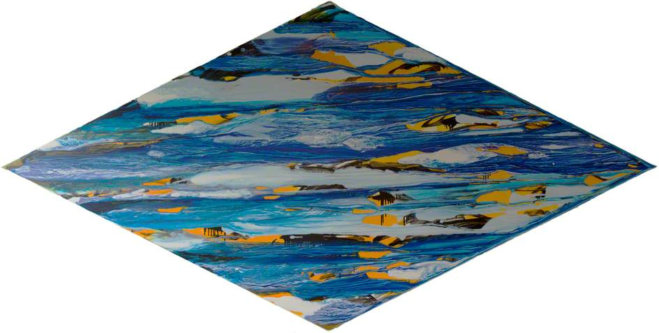 Wikioo.org - The Encyclopedia of Fine Arts - Painting, Artwork by Liza Gough Daniels - Blue Stretched Diamond '02