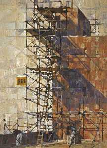 Scaffolding around a Tower