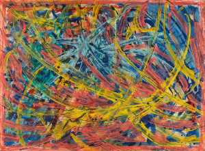 Abstract Yellow, Red and Blue
