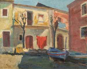 House with Boats (probably Venice, Italy)