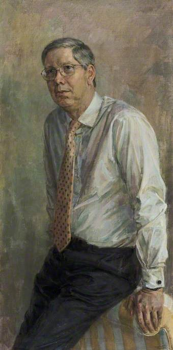 Wikioo.org - The Encyclopedia of Fine Arts - Painting, Artwork by June Mendoza - David Clementi (b.1949), Deputy Governor of the Bank of England (1998–2002)