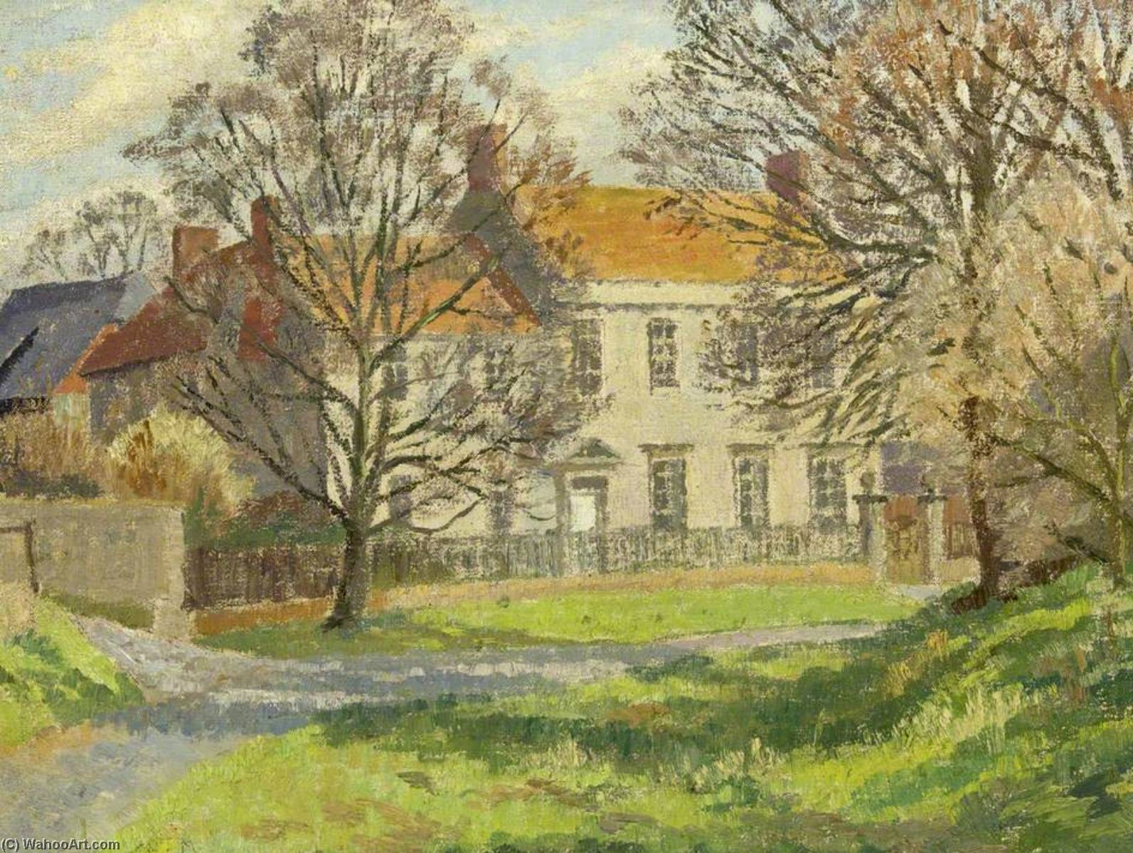 Wikioo.org - The Encyclopedia of Fine Arts - Painting, Artwork by Donald Ewart Milner - A Wiltshire Village