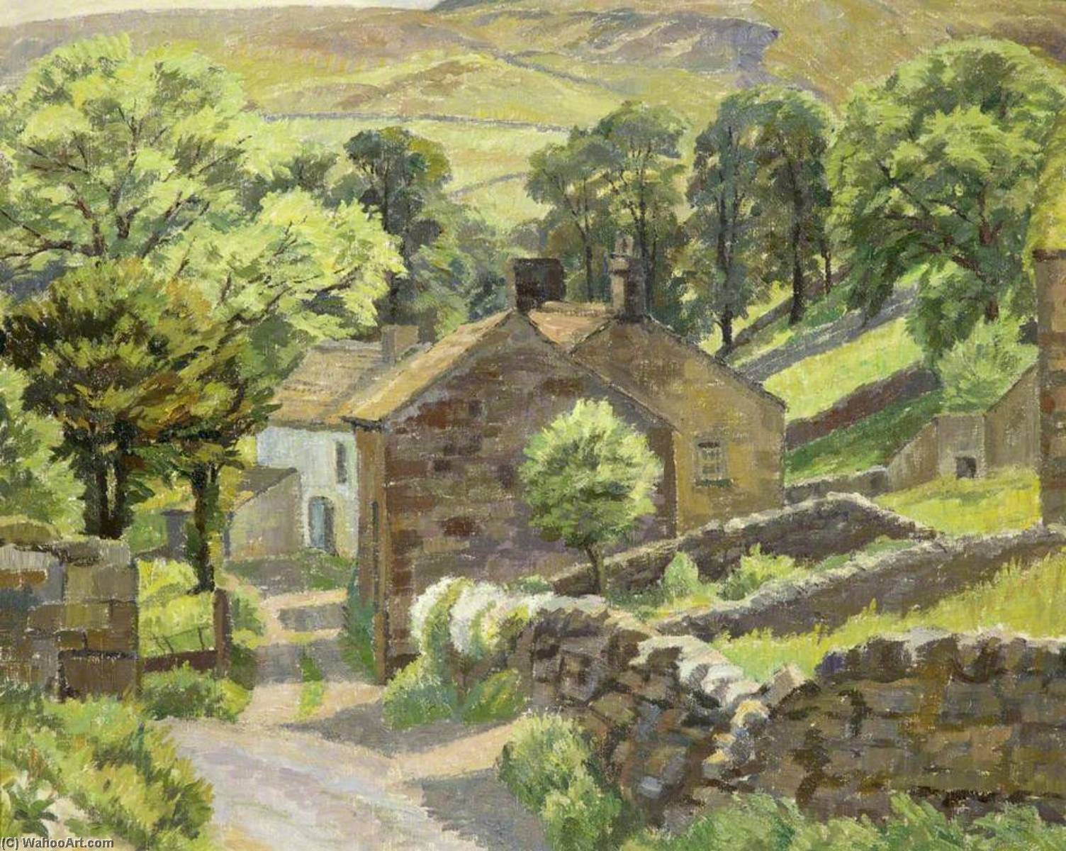 Wikioo.org - The Encyclopedia of Fine Arts - Painting, Artwork by Donald Ewart Milner - A Yorkshire Dale