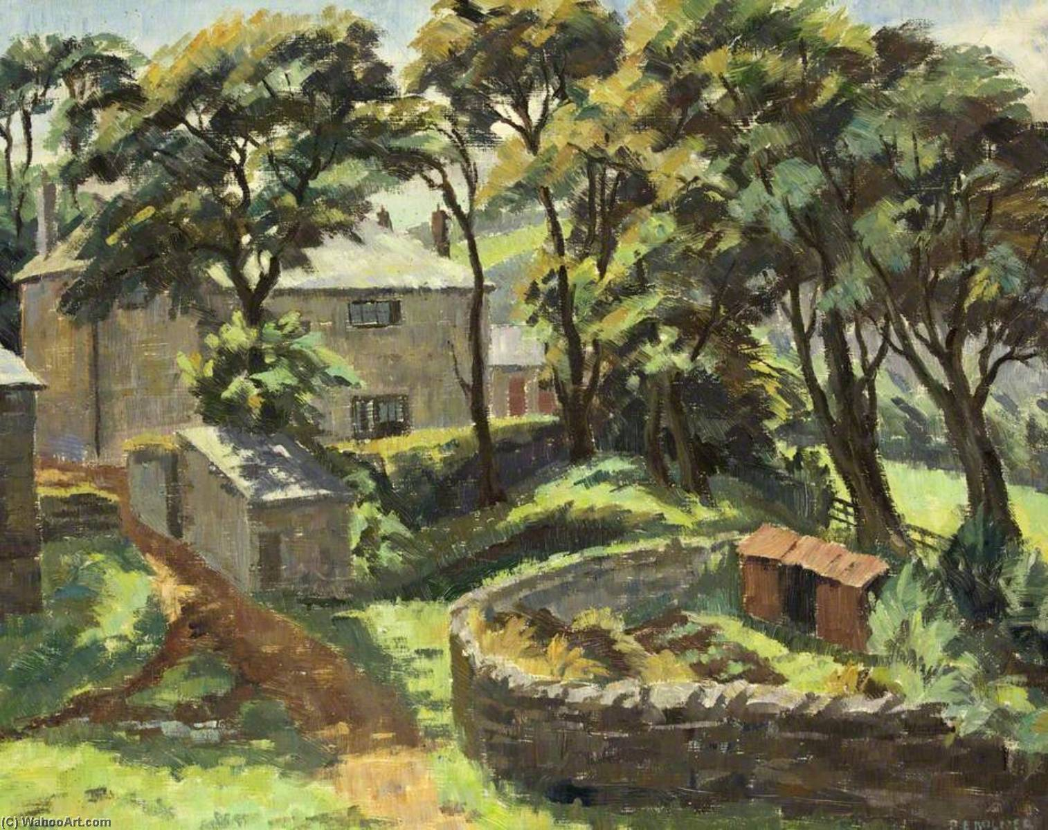 Wikioo.org - The Encyclopedia of Fine Arts - Painting, Artwork by Donald Ewart Milner - A Moorland Farm
