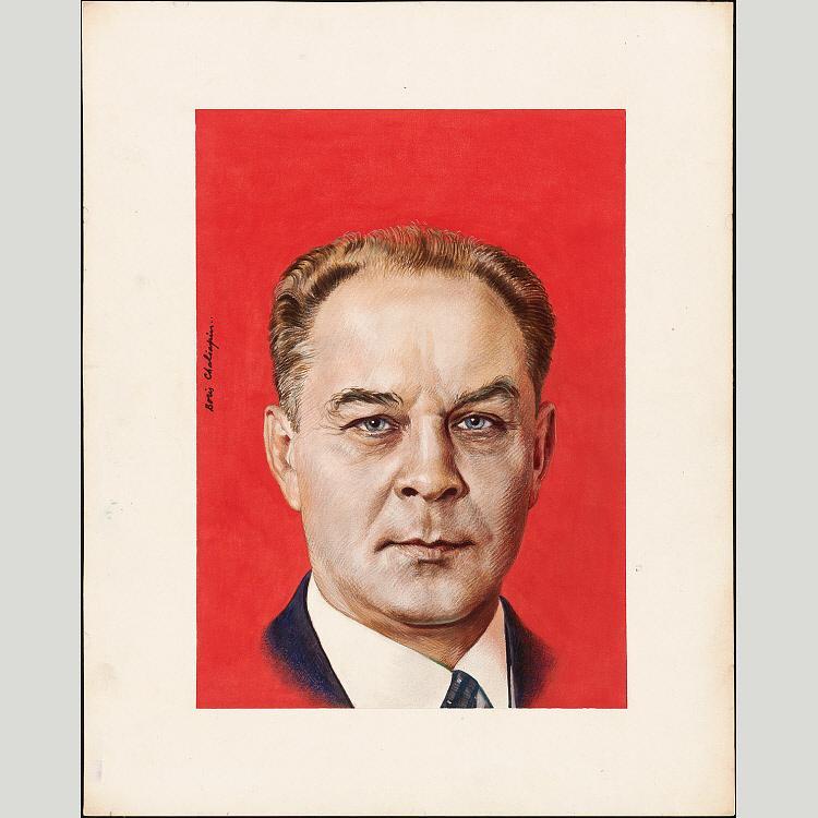 Wikioo.org - The Encyclopedia of Fine Arts - Painting, Artwork by Boris Chaliapin - Aleksandr Shelepin