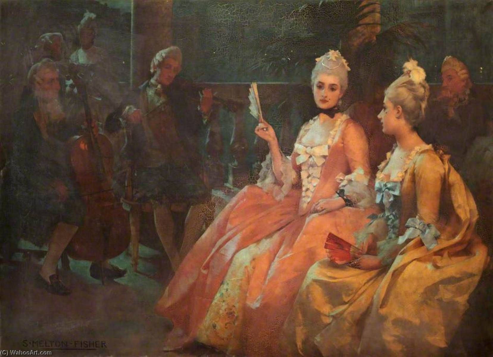 Wikioo.org - The Encyclopedia of Fine Arts - Painting, Artwork by Samuel Melton Fisher - A Moonlight Sonata, Venice