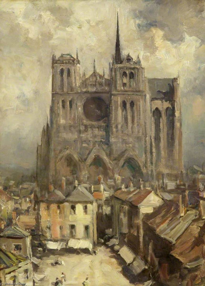Wikioo.org - The Encyclopedia of Fine Arts - Painting, Artwork by Francis Abel William Taylor Armstrong - Amiens Cathedral