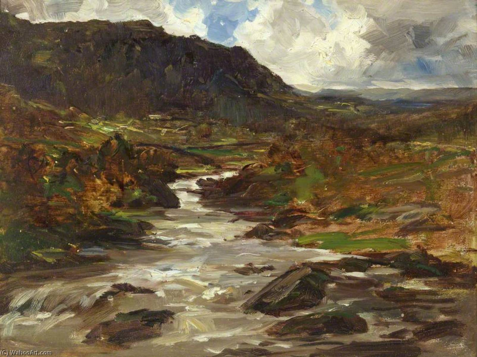 Wikioo.org - The Encyclopedia of Fine Arts - Painting, Artwork by Francis Abel William Taylor Armstrong - A Mountain Stream