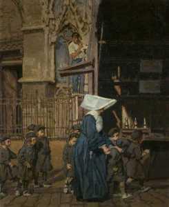 A Nun with Children