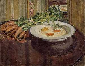Still Life with Eggs and Carrots