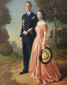 Her Royal Highness Princess Elizabeth (b.1926), and the Duke of Edinburgh (b.1921)