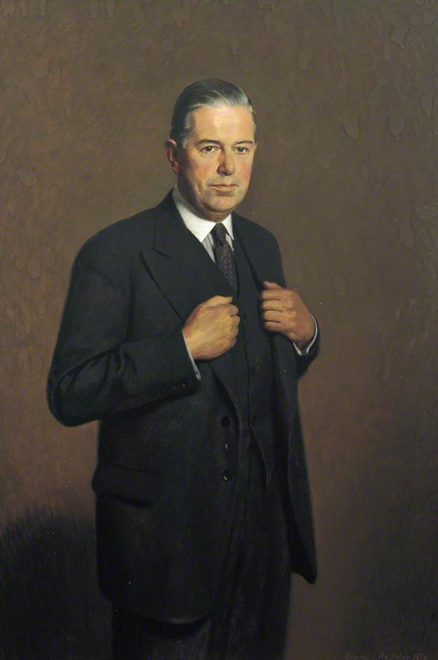 Wikioo.org - The Encyclopedia of Fine Arts - Painting, Artwork by Edward Irvine Halliday - Cameron Fromanteel Cobbold (1904–1987), Governor of the Bank of England (1949–1961)